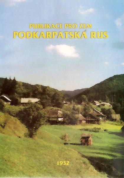 Publikace pro zem Podkarpatská Rus (1932)