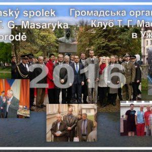 Kapesní kalendář Klubu T. G. Masaryka v Užhorodě 2016