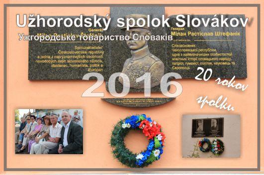 Kapesní kalendář - Užhorodský spolok Slovákov 2016